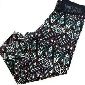 VS PINK Ultimate Tribal Print Capri Leggings Small